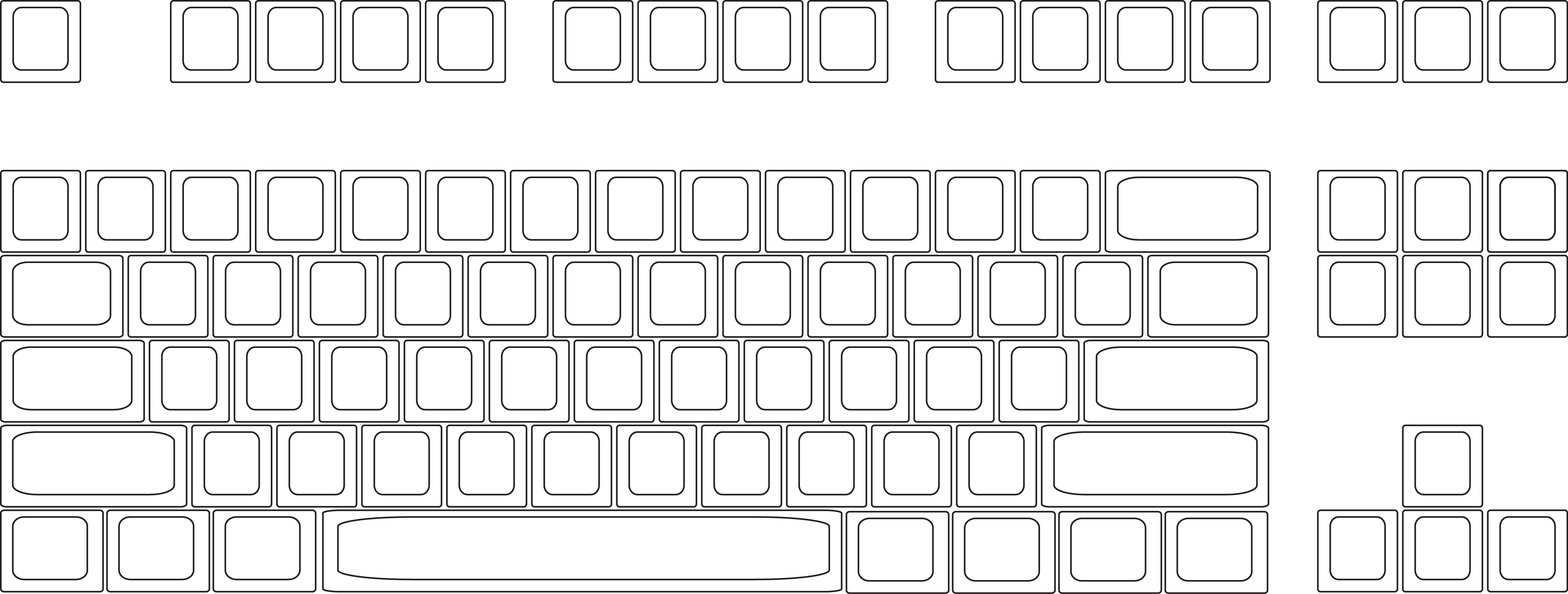 graphic regarding Printable Keyboard Stickers named Templates